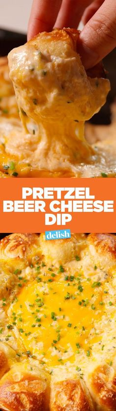 Our Pretzel Beer Cheese Dip is the only thing you should be serving on game day. Get the recipe on http://Delish.com.