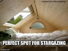 watch storms or look at stars -- this is awesome. There WILL be something like this in my future house, as well as easy roof access on some part of the home. Future House, Interior Exterior, Modern Interior, Humble Abode, My Dream Home, Dream Life, Perfect Place, Nice Place, Cozy Place