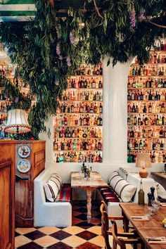 Visit this big-hearted Italian restaurant full of quirky vintage finds - Vogue Australia Cafe Restaurant, Italian Restaurant Decor, Restaurant Vintage, Decoration Restaurant, Restaurant Design, Unique Restaurants, London Restaurants, Italian Restaurants, Italian Cafe