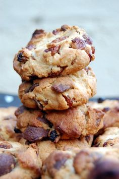 Cookies fruits secs céréales Nutrition, Tea Time, Cooking, Healthy, Pains, Olives, Muffins, Food, Honey