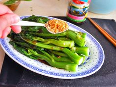 I added one more tablespoon of oyster sauce. Might try to add a slurry next time to make the sauce thicker.  Simply simmered Chinese broccoli has a hearty flavor that pairs well with oyster sauce in this classic Cantonese preparation. Our version adds some fried garlic to the mix, using the flavorful garlic oil to amp up flavor.