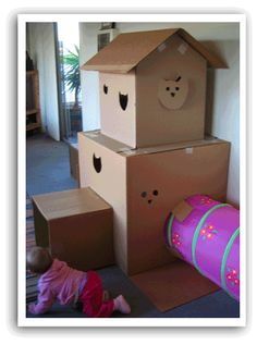 cardboard box house for cats -