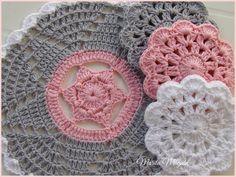 Crochet doily-coasters...