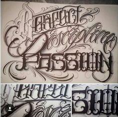 Hand Lettering Alphabet, Handwritten Letters, Script Lettering, Lettering Styles, Graffiti Lettering, Calligraphy Letters, Caligraphy, Cursive Script, Chicano Tattoos Lettering