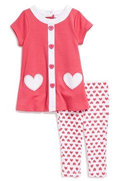 Little Me 'Heart' Tunic & Leggings (Baby Girls) available at #Nordstrom