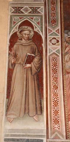 [Renaissance] Spinello Aretino - San Francesco d'Assisi - affresco - 1348-1387 - Oratorio di Santa Caterina delle Ruote - Bagno a Ripoli (Firenze)