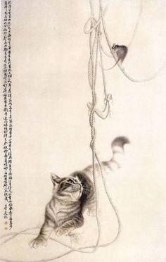 Кошки в рисунках Сюй Синьци
