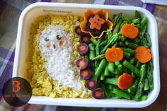 cute ghost made of rice with nori face