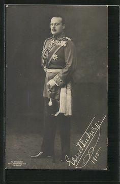 German WW Pc Uniformfoto Grossherzog Ernst Ludwig von Hessen-Darmstadt mit Bajo