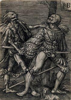 Artist: Binck, Jacob, Title: Soldier's Time of Death, Date: ca. 1520-1531