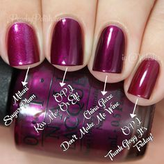 OPI 'Kiss Me - Or Elf!' Comparison | Holiday 2014 Gwen Stefani Collection Comparisons | Peachy Polish