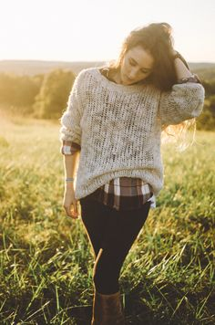 fall fashion 2016 - Target style plaid, H&M sweater, Bed|Stu boots from Free People