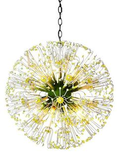 It's a dandelion of a chandelier! Pendant pretty light mid century mod style