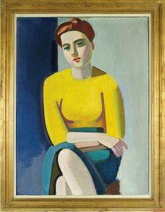 """Vilhelm Lundstrøm:"""" Portræt af Hanne Wilhelm Hansen"""". 1946."""