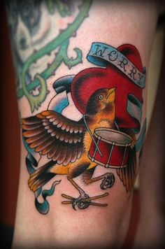 something very american about this one. tattoome:  by Erick Lynch ofRedemption Tattoo Inc.located in Boston,Massachusetts.