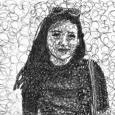 Scribble Art, Shading Techniques, Online Art Classes, Digital Painting Tutorials, Art Drawings, Contour Drawings, Drawing Faces, Medium Art, Art Lessons