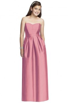 Dessy's junior bridesmaid dresses match the adult bridesmaids for a coordinated bridal party. Find dozens of designer style choices with a youthful twist, making junior bridesmaids feel grown-up while remaining age-appropriate. Junior Dresses, Girls Dresses, Dessy Bridesmaid Dresses, Junior Bridesmaids, Strapless Dress Formal, Formal Dresses, Flower Dresses, Designer Wedding Dresses, Bridal Gowns