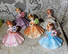 4 Birthstone Doll Figurines-Josef Originals Sapphire Rhinestone Flowers & More   eBay
