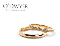Wedding Band - 18ct Red gold ring with diamonds. Vigselring Förlovningsring