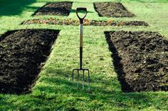 Sunken Garden Beds--I kind of like the look and it'd be easier than making raised boxes