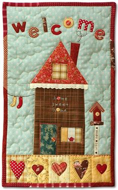 Daisy Applique Wall Hanging | Wall hangings : home quilt - Adamdwight.com