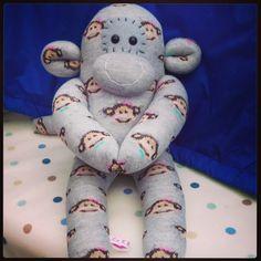 Monkey print sock monkey