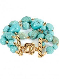 Oscar de la Renta Jewelry - Turquoise 3 Strand Bracelet