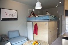 22 Square Meter Apartment With Ingenious Storage Solutions And A Fun Layout