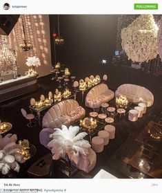Ahhhh-MAZING: The momager also shared an overhead shot of the party room...