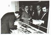Stand de la Diputación en la Feria del Libro de Córdoba. En la foto, el Gobernador Civil, el Vicepresidente de la Diputacion y el Alcalde de Córdoba