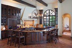 Lake Home Kitchen - mediterranean - kitchen - austin - Cornerstone Architects