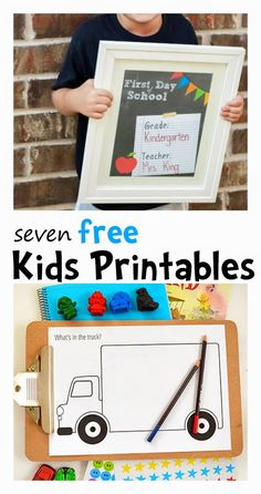 Learn with Play at Home: 7 free kids printables --> activities, crafts, games, and fun diy for kids!