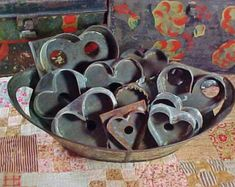 ReservedAntique Tin Cookie Cutters Collection of Eleven Hearts - Cookie Cutters - Ideas of Cookie Cutters Vintage Baking, Vintage Tins, Valentines Day Hearts, Be My Valentine, Kitsch, Vintage Cookies, Vintage Kitchenware, Valentine Decorations, Antique Stores