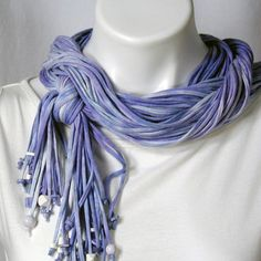 The Soba Scarf in Hydrangea and White. $54.00, via Etsy.