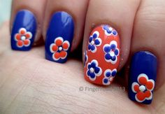 Accent flowers by fingerfood - Nail Art Gallery nailartgallery.nailsmag.com by Nails Magazine www.nailsmag.com #nailart