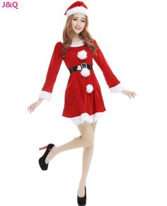 New Christmas Costumes Costumes Women s Halloween Masquerade Christmas  Stage Performance Santa Claus Disfraces CK16953 Disfraces 87e347f3522