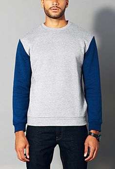 Retro Colorblocked Sweatshirt   21 MEN - 2000128490