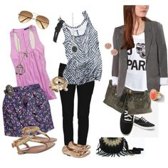 Spring outfits that seem almost effortless... Wish I could wear them to work!