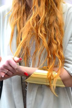 yes this picture is about the statement bracelet. But i want my hair this color!!!!