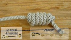Matelotage : noeud de capucin ( queue de singe, ajut de touline )
