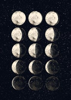 'Moon Cycle' Poster by lintho <br> Millions of unique designs by independent artists. Find your thing. Room Posters, Poster Wall, Poster Prints, Art Print, Photo Wall Collage, Picture Wall, Cycling Art, New Wallpaper, Moon Phases