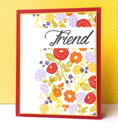Hello! Sorry I've been missing in action around here, things have been crazy. Today I have a card that I created a week or so ago for a dear friend of mine, I used the Papertrey Ink stamp set Bitty