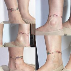 "7,363 Likes, 77 Comments - 타투이스트 무하. Octoberskyta2 (@tattooistmuha) on Instagram: ""family flower , anklet 다섯식구의 꽃."""