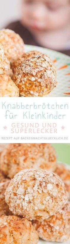 Ein einfaches Rezept für Kinderbrot bzw. Kinderbrötchen, die voller gesunder Zutaten stecken! Eine perfekte Baby-Knabberei für Zwischendurch sowie eine leckere Grundlage zum Frühstück oder Abendessen