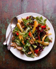 Orange Blossom, Pear and Walnut Salad