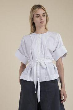 Palmer//Harding - Poplin Bib Shirt Draping Techniques, Palmer Harding, Pattern Cutting, Poplin, Ruffle Blouse, Shirts, Collection, Tops, Women