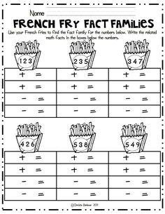 French Fry Fact Families math center.pdf
