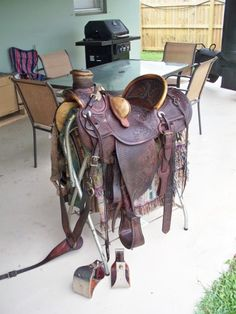 Ben Swanke Wade Saddle for Sale - For more information click on the image or see ad # 60497 on www.RanchWorldAds.com