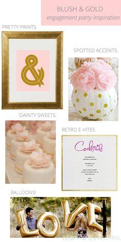 Engagement party inspiration: blush & gold