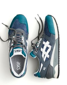 Crew X ASICS®. Our latest limited-edition sneaker collaboration features two exclusive colorways of ASICS' freshly re-released runner, the Gel-Respector™. New Shoes, Men's Shoes, Shoe Boots, Shoes Sneakers, Mens Fashion Shoes, Sneakers Fashion, Urban Look, Zapatillas Casual, Asics Shoes